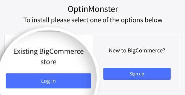 Log into BigCommerce