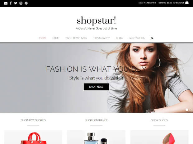 shopstar ecommerce template