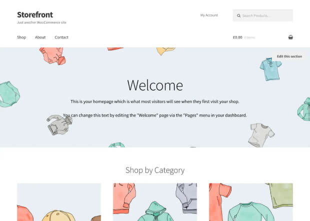 storefront responsive template