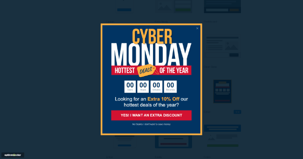 optinmonster cyber monday template