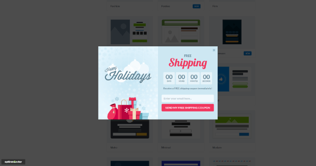 optinmonster holiday template