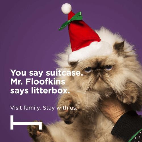 hoteltonight funny holiday marketing