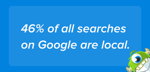 46% of google searches are local
