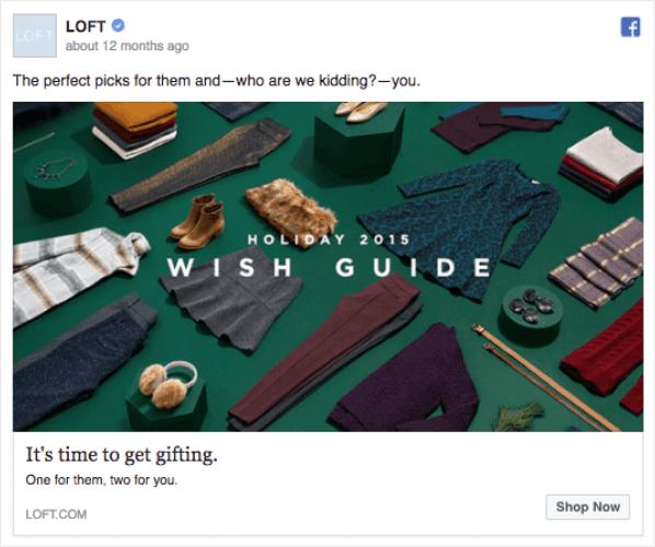 loft holiday facebook ad