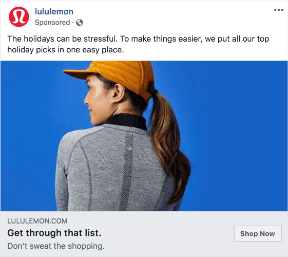 lululemon facebook ad