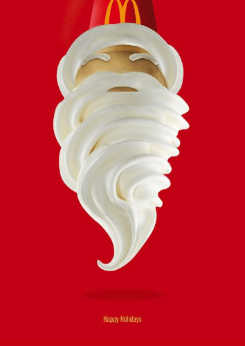 mcdonald's ice cream santa beard