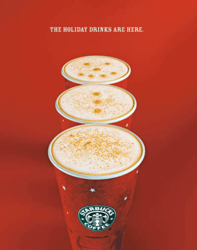 starbucks holiday drinks ad