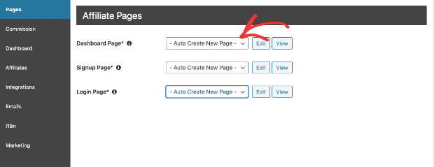 auto create new pages