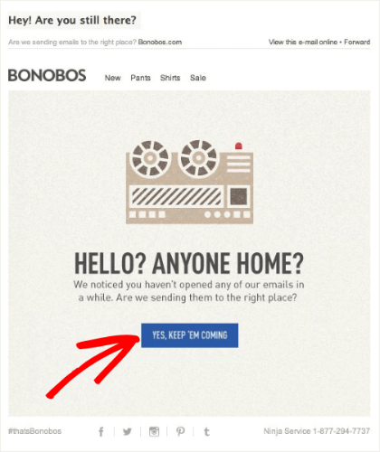 bonobos re-engagement clear copy