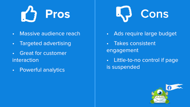 facebook pros and cons