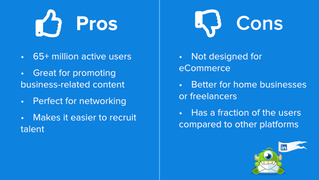 linkedin pros and cons