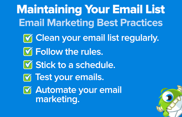 email marketing best practices: maintaining your email list