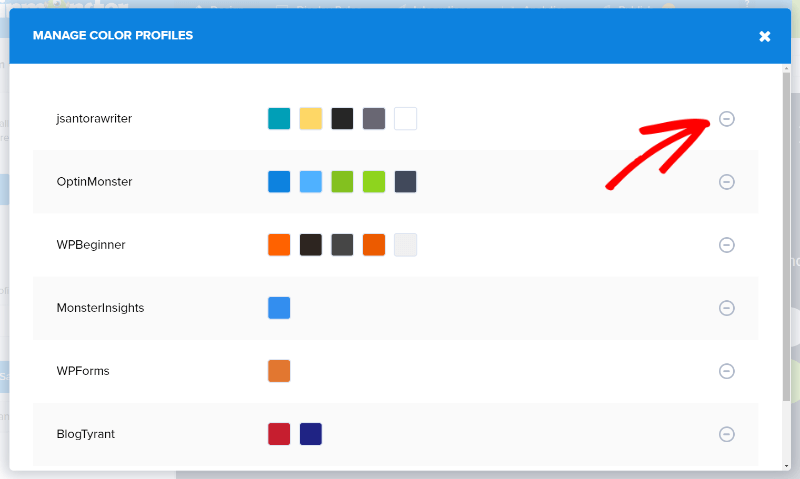 manage color profiles