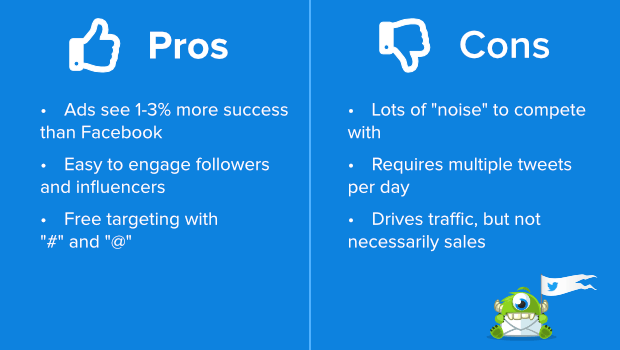 twitter pros and cons