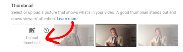 youtube upload custom thumbnail