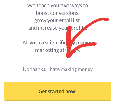 2-step optin with bad copy for NO-min