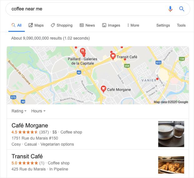 google-regionali-ricerca-risultati-per-caffè-vicino a me-