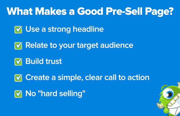 what makes a good pre-sell page