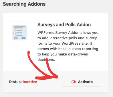 Attiva il modulo aggiuntivo Survey Form