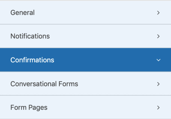 Confirmations in WPForms min