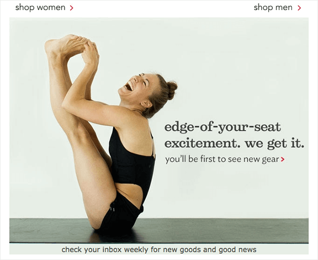 Lululemon-welcome-mail