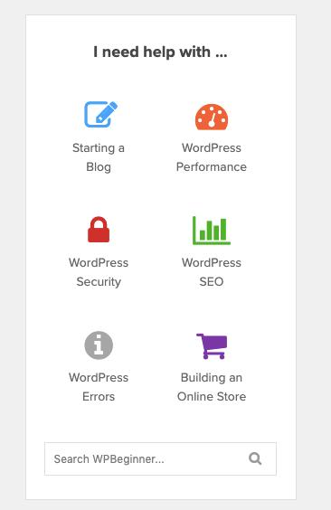 Benötigen Sie Hilfe bei WPBeginner_