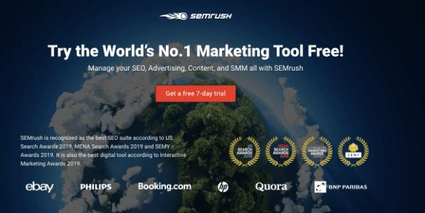 SEMrush pre sell page