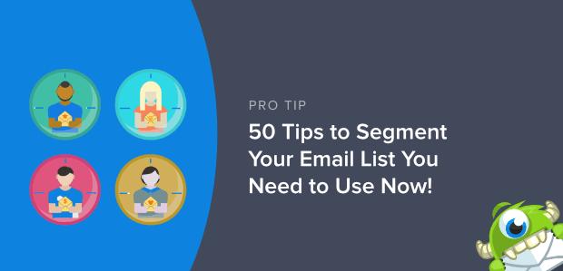 Segmenta la tua lista email in primo piano image-min