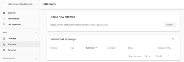 Submit Sitemap from Google Search Console