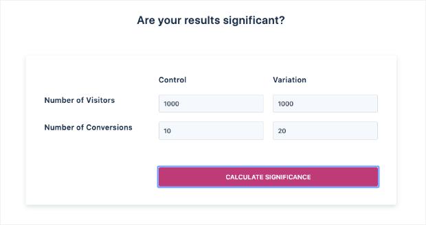 VWO Significance Calculator