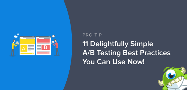 a / b test delle migliori pratiche