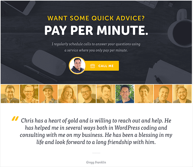 chris-lema-pay-per-minute with testimonial