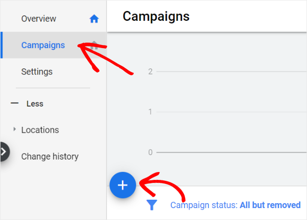 in google ads click campaigns then the blue plus sign to create a new bumper ad