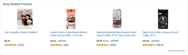 example of amazon's sponsored display ads