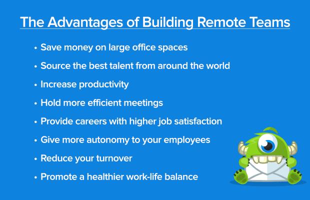 Advantages of building remote teams list