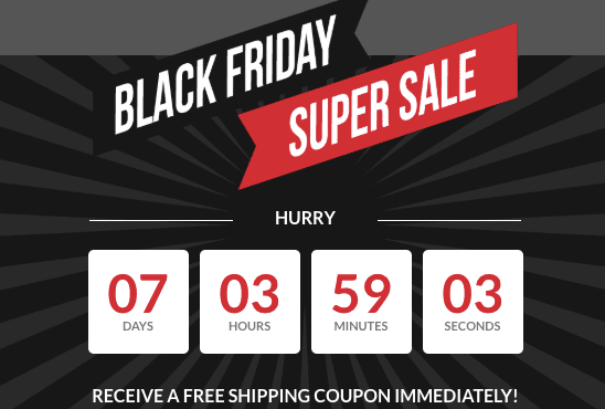 Black Friday Email Countdown Campaign Timer