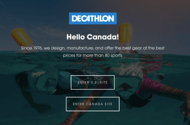 Decathlon Popup