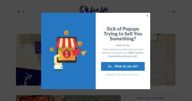 Popup lightbox per esempio Shopify