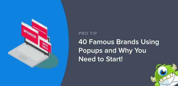 Brands Using Popups Featured Image