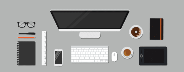 Image to show work from home tip: Create a workspace