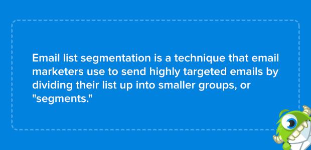 cos'è la segmentazione dell'email