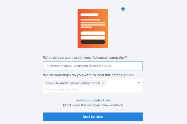 Assegna un nome all'orario di apertura della campagna che cambia la campagna