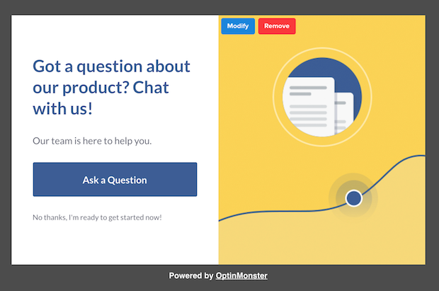 make money with optinmonster by answering visitor questions