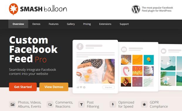 smash balloon custom facebook feed