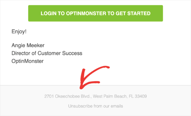 Add physical address to your email campaigns
