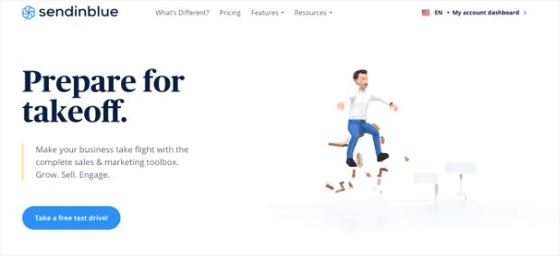 Email marketing provider Sendinblue integrates with OptinMonster.