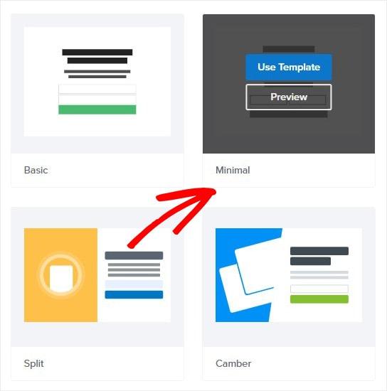 Choose Minimal Fullscreen Mat Template