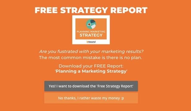 Inbound Marketing Fullscreen Welcome Popup