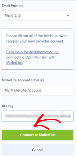 Connect to Mailerlite
