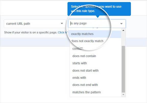 Exit Intent Exact Match URL